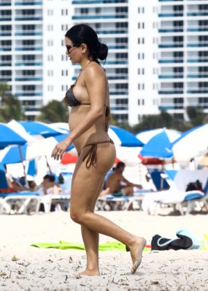 Kathy Picos in Bikini on the beach in Miami Pic 12 of 35