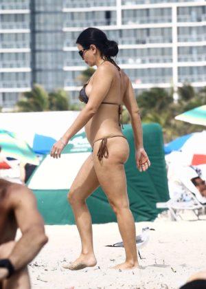 Kathy Picos in Bikini on the beach in Miami Pic 32 of 35