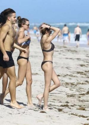 Katie Cassidy: Bikini at The Beach In Miami-43