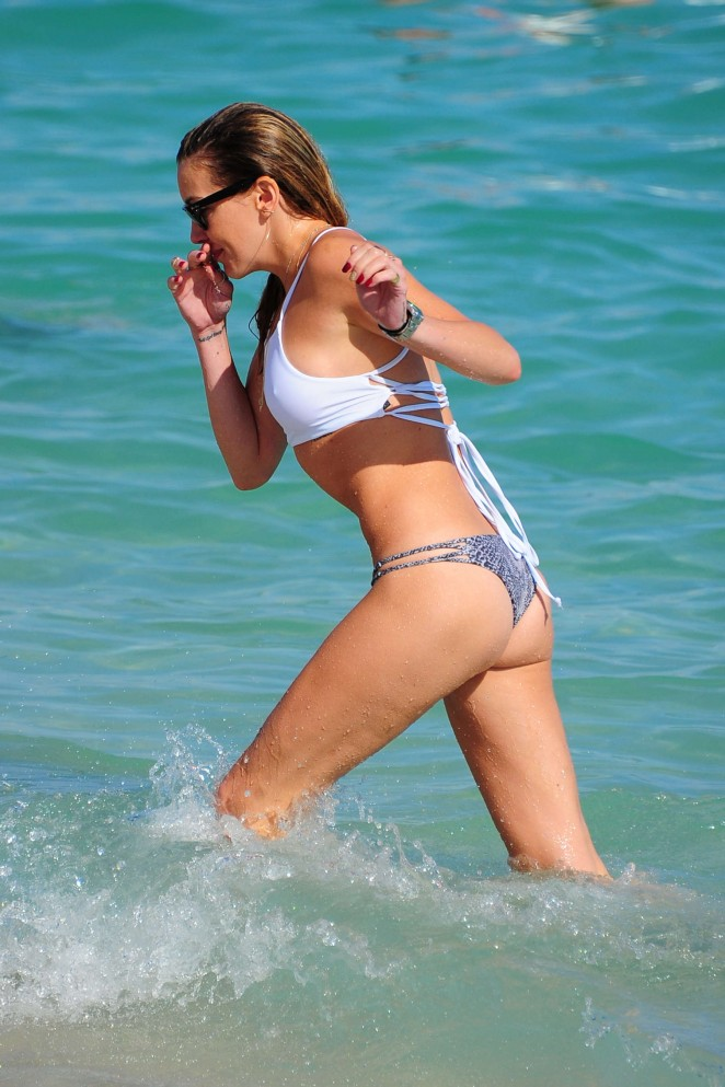 Katie Cassidy in Bikini in Miami