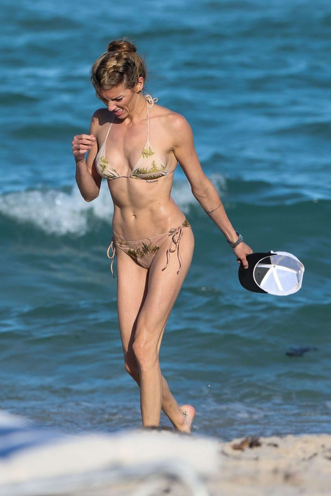 Katie Cassidy in Bikini on the beach in Miami