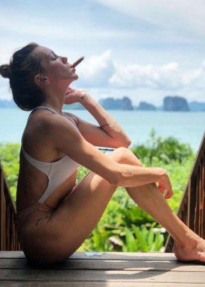 Katie Cassidy in Bikini - Social Media Pics