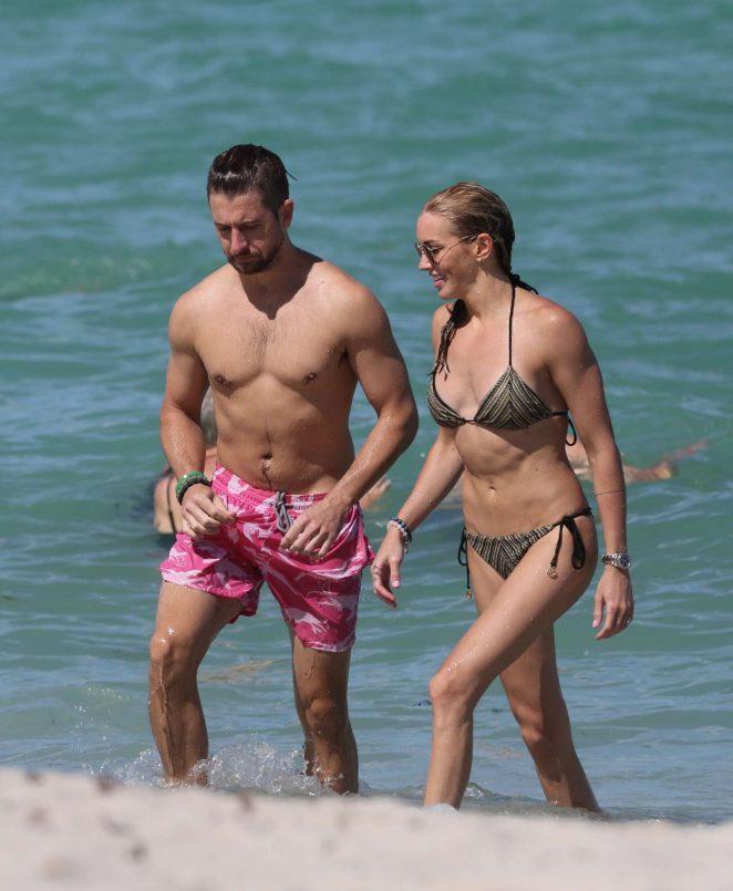 Katie Cassidy in Bikini with boyfriend in Miami