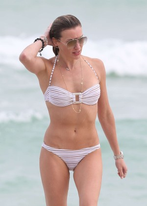 Katie Cassidy in White Bikini in Miami