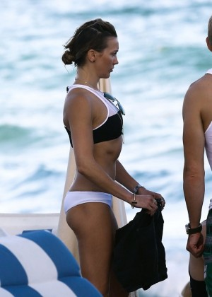 Katie Cassidy - wearing a bikini in Miami