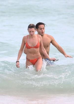 Katie Cassidy in Orange Bikini -02