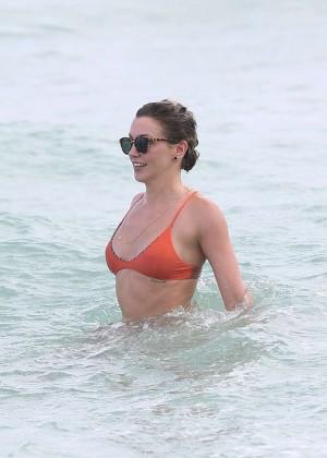 Katie Cassidy in Orange Bikini -03