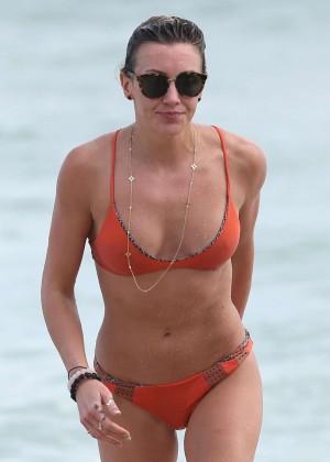 Katie Cassidy in Orange Bikini -04