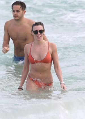 Katie Cassidy in Orange Bikini -05