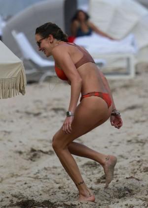 Katie Cassidy in Orange Bikini -10