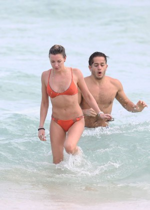 Katie Cassidy in Orange Bikini -11