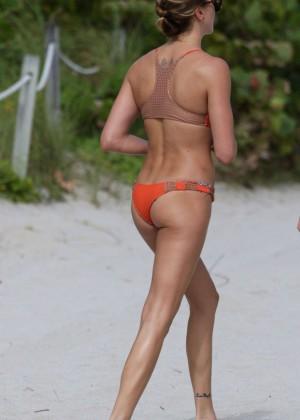 Katie Cassidy in Orange Bikini -12