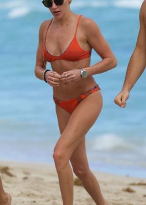 Katie Cassidy in Orange Bikini -13