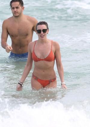 Katie Cassidy in Orange Bikini -19
