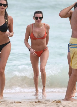 Katie Cassidy in Orange Bikini -20