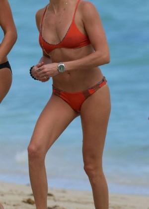 Katie Cassidy in Orange Bikini -22