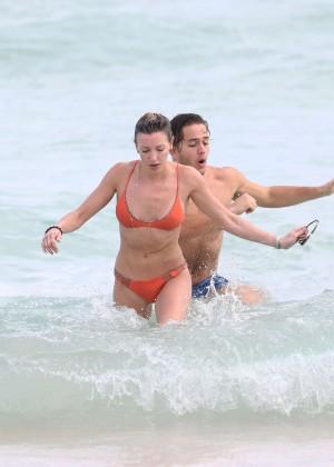 Katie Cassidy in Orange Bikini -26