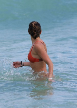 Katie Cassidy in Orange Bikini -30