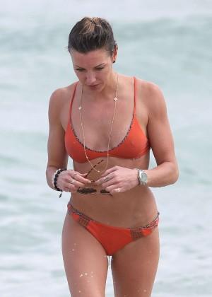 Katie Cassidy in Orange Bikini -32