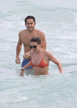 Katie Cassidy in Orange Bikini -33