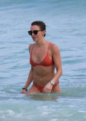 Katie Cassidy in Orange Bikini -34