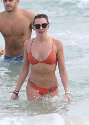 Katie Cassidy in Orange Bikini -35