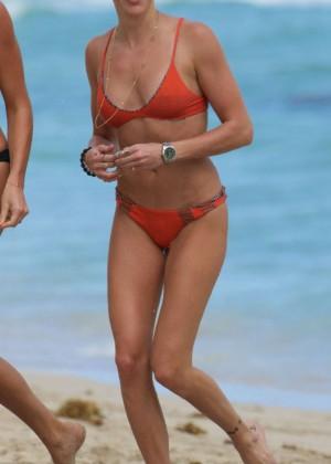 Katie Cassidy in Orange Bikini -37