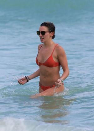Katie Cassidy in Orange Bikini -38