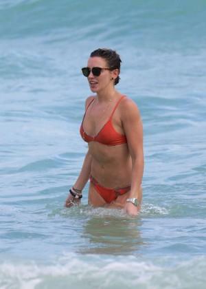 Katie Cassidy in Orange Bikini -39