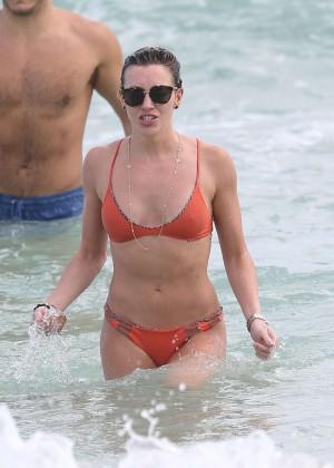 Katie Cassidy in Orange Bikini -42