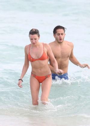 Katie Cassidy in Orange Bikini -45