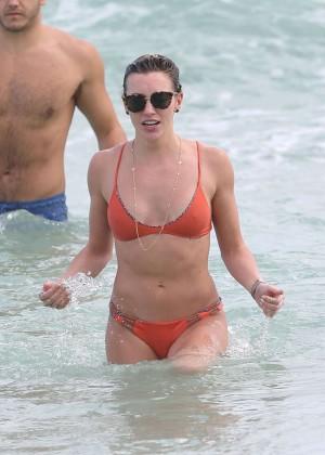 Katie Cassidy in Orange Bikini -47