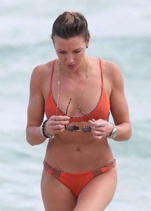 Katie Cassidy in Orange Bikini -48