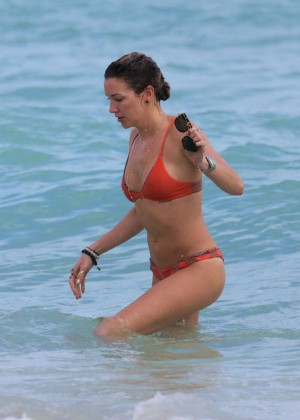 Katie Cassidy in Orange Bikini -50