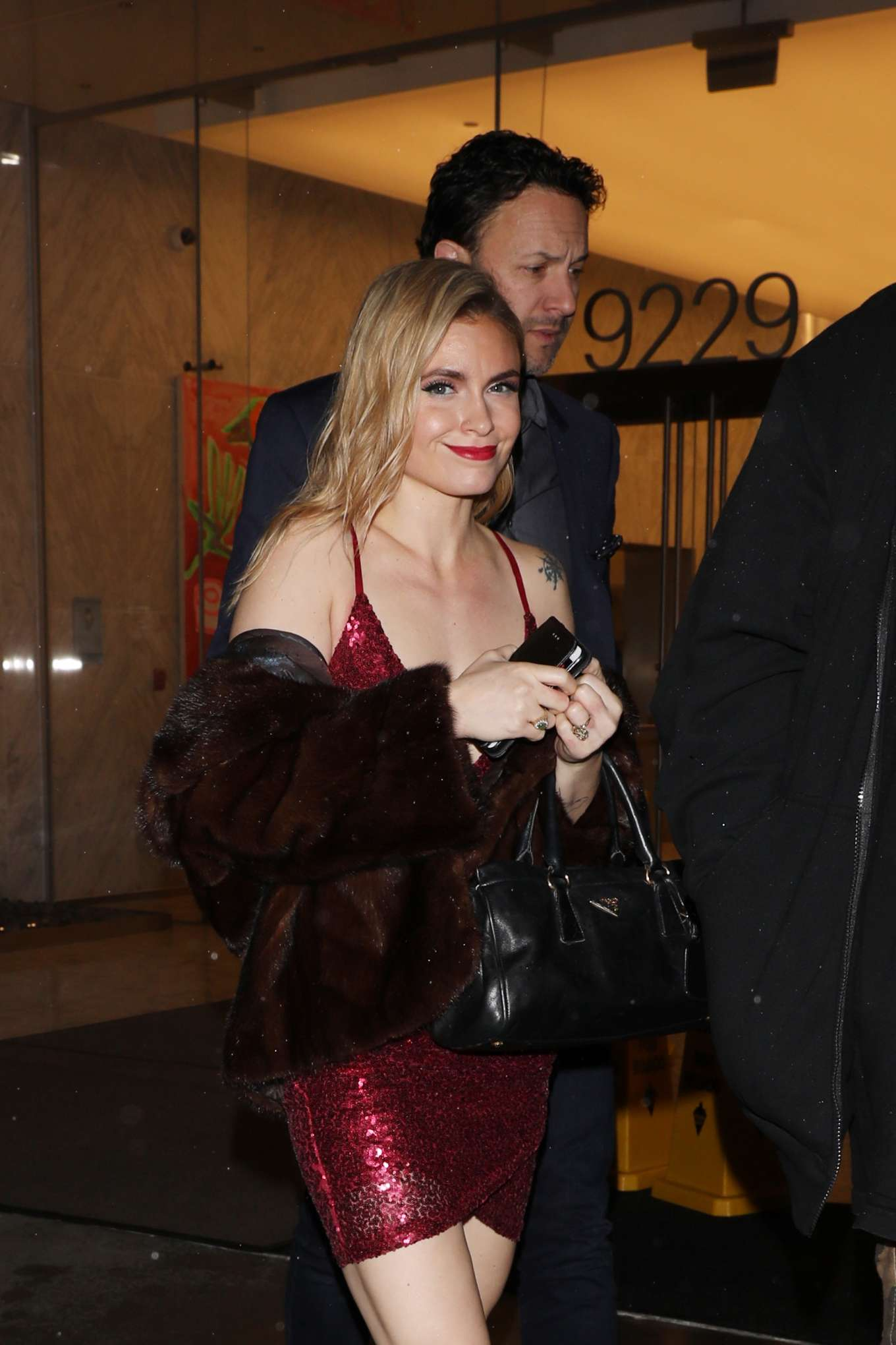 Katie Cherry is seen leaving Bootsy Bellows night club with mystery man in West Hollywood
