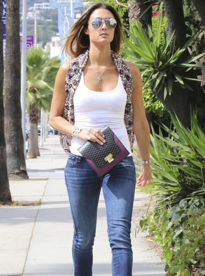 Katie Cleary in Jeans Out in LA