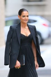 Katie Holmes - all in black at Zimmermann in NY