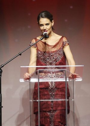 Katie Holmes - American Heart Association's Go Red For Women Red Dress Collection in NYC
