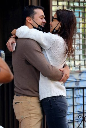Katie Holmes and Emilio Vitolo Jr. - Pictured outside his restaurant in NYC