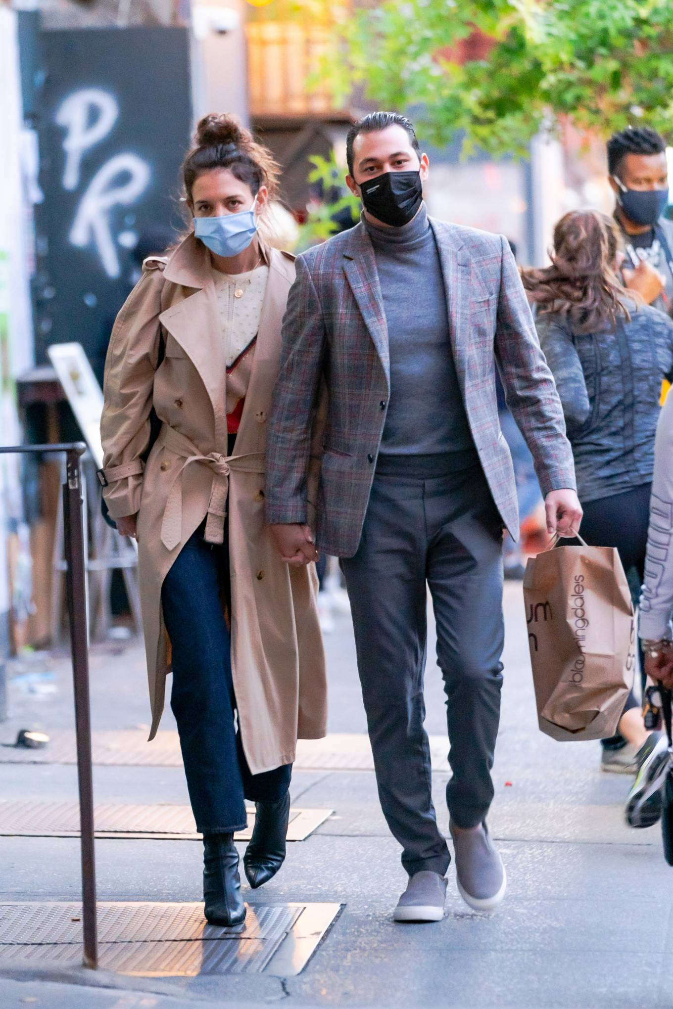 Katie Holmes 2020 : Katie Holmes and Emilio Vitolo – Spotted while out in New York City-01