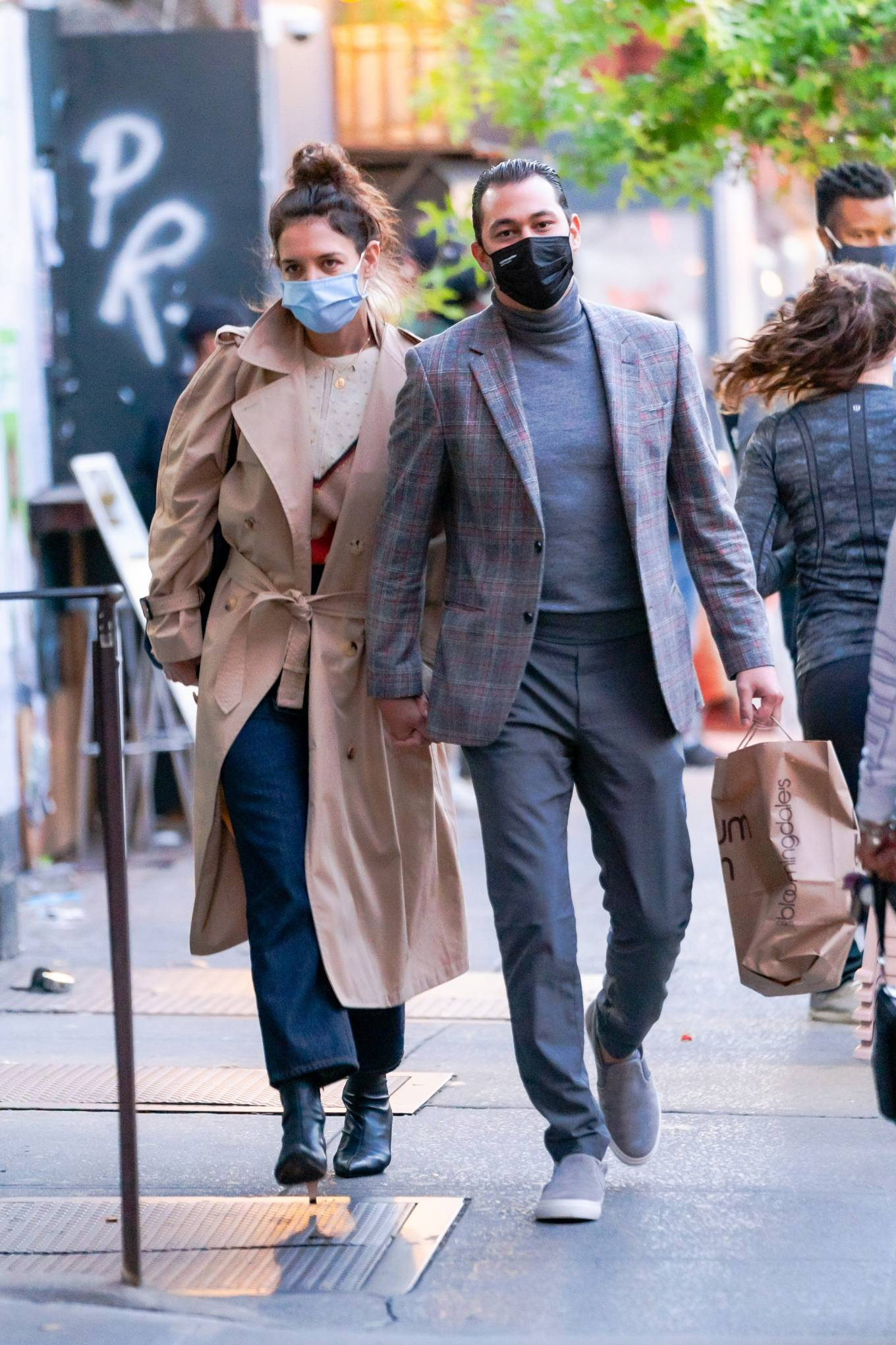 Katie Holmes 2020 : Katie Holmes and Emilio Vitolo – Spotted while out in New York City-02