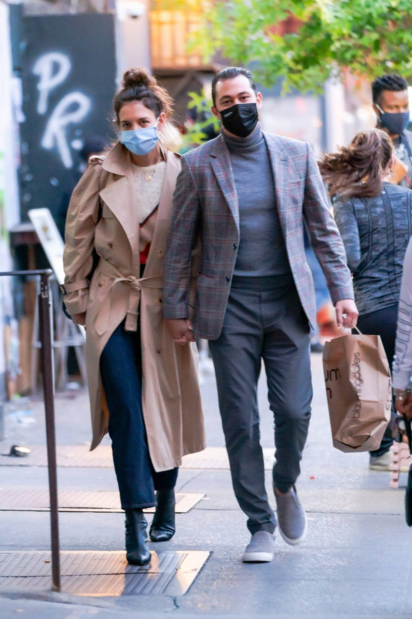 Katie Holmes 2020 : Katie Holmes and Emilio Vitolo – Spotted while out in New York City-05