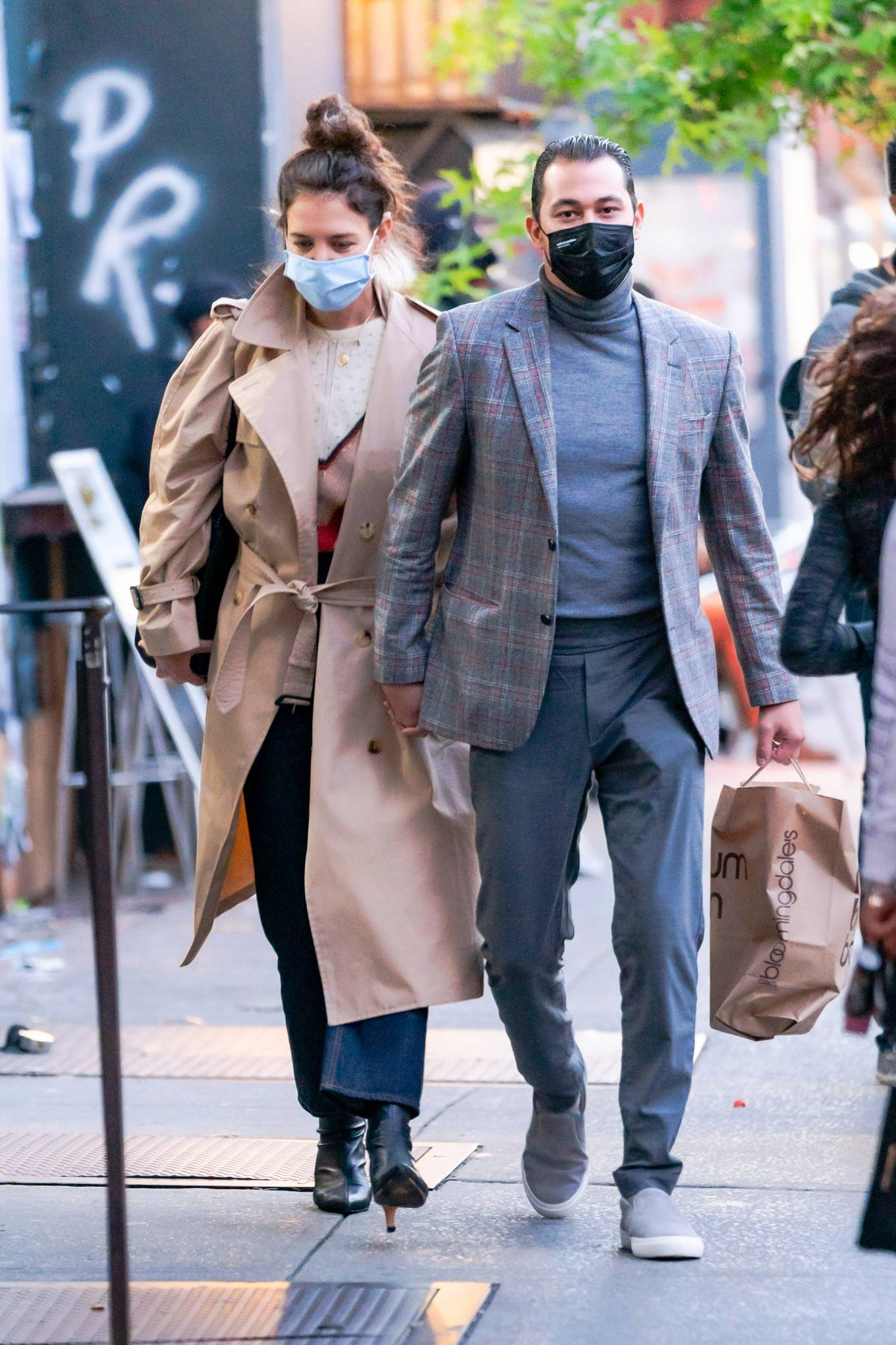 Katie Holmes 2020 : Katie Holmes and Emilio Vitolo – Spotted while out in New York City-06