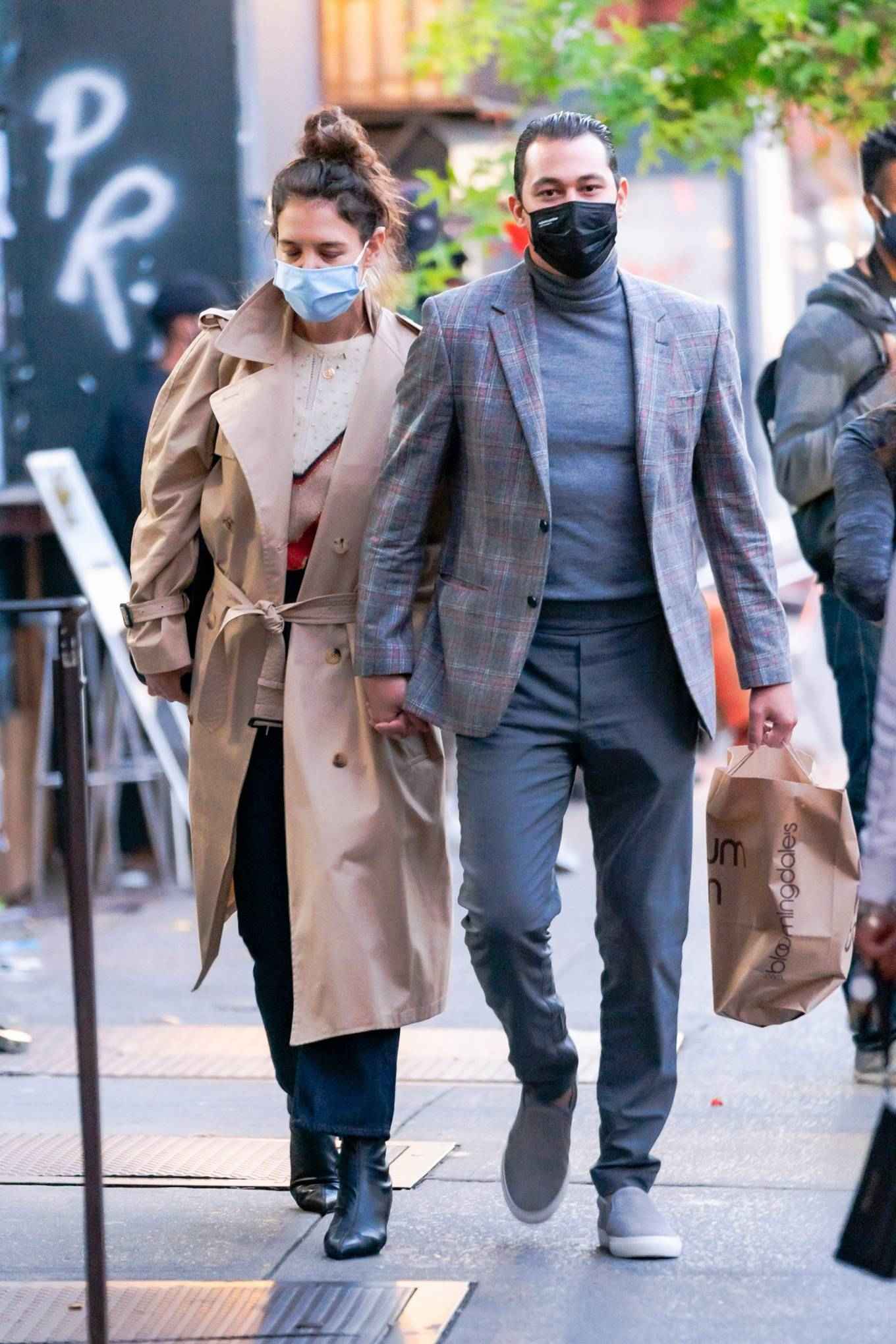 Katie Holmes 2020 : Katie Holmes and Emilio Vitolo – Spotted while out in New York City-09