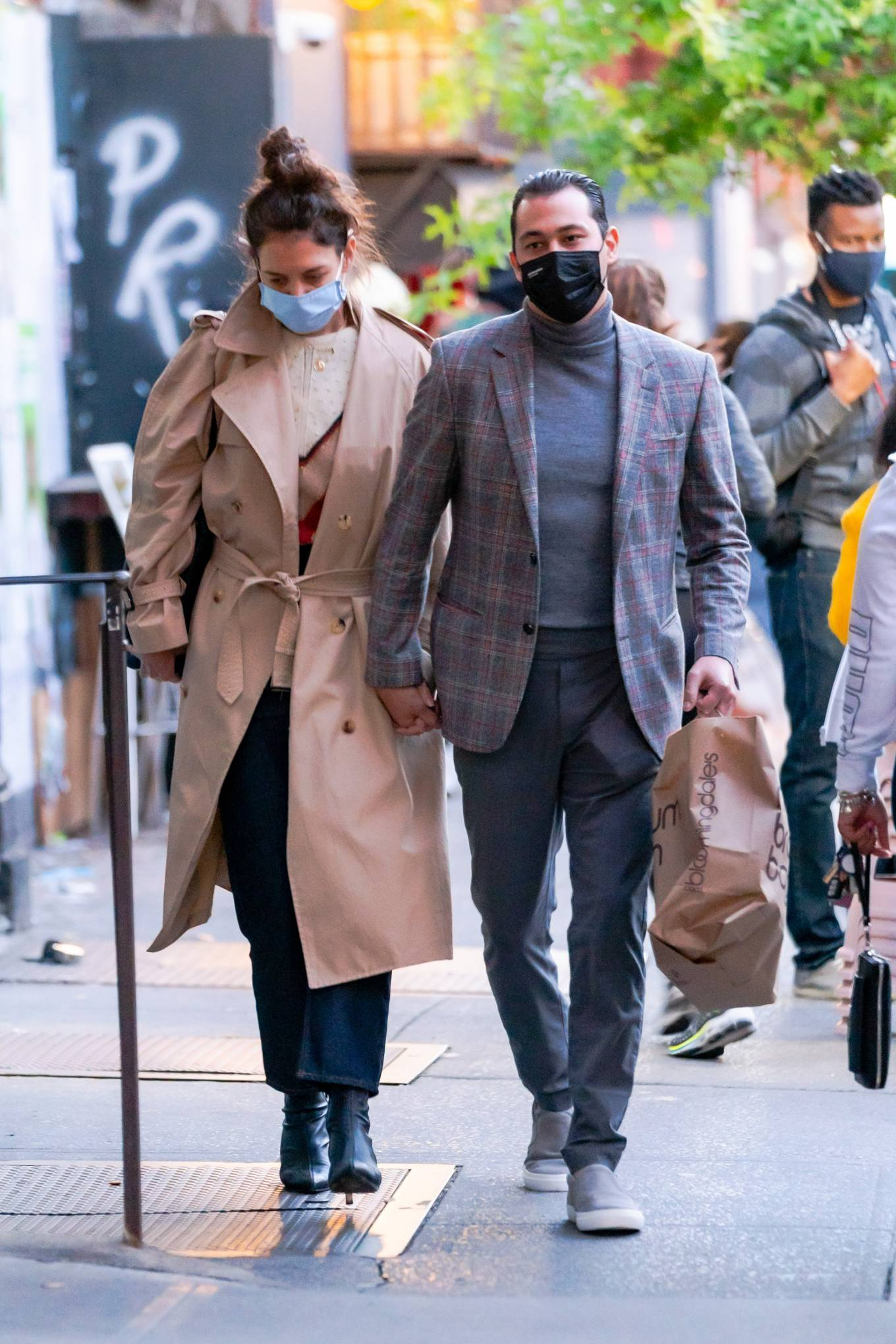 Katie Holmes 2020 : Katie Holmes and Emilio Vitolo – Spotted while out in New York City-12