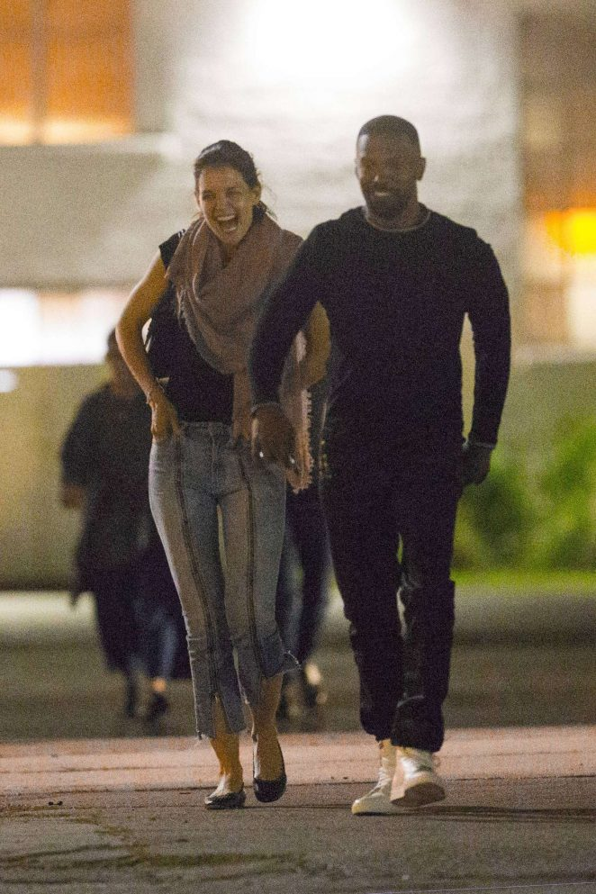 Katie Holmes and Jamie Foxx - Night out in New Orleans
