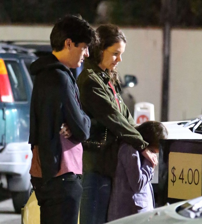 Katie Holmes and Michael Cavadias on a date in Woodland Hills