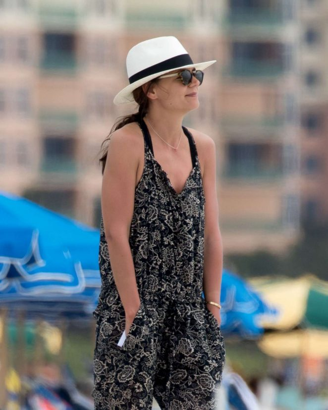 Katie Holmes at a Beach in Miami