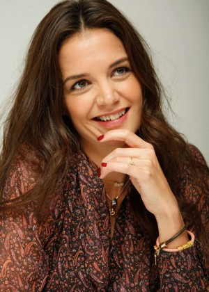 Katie Holmes at a press conference in Beverly Hills