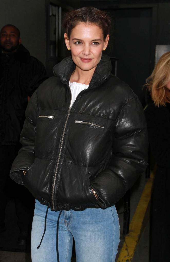 Katie Holmes at AOL Build in New York